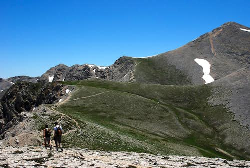 Toward the summit