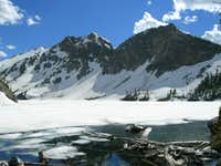 Frozen Sawtooth Lake