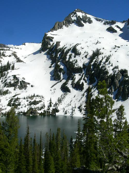 Alpine Peak over Alpine Lake