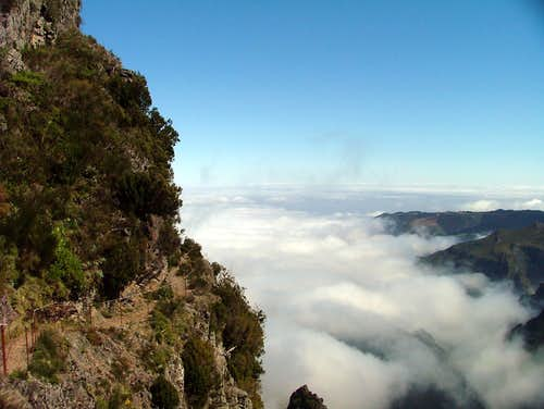 Trail over the clouds ...