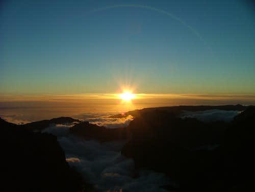 Sundown from Pico Areeiro (1818m)