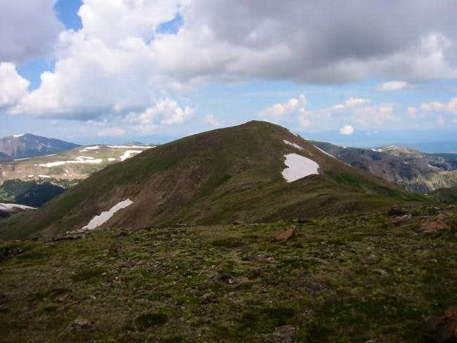 Vasquez Peak's shadowy summit...