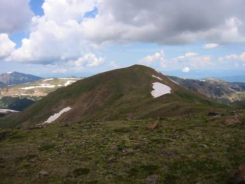Vasquez Peak\'s shadowy summit...