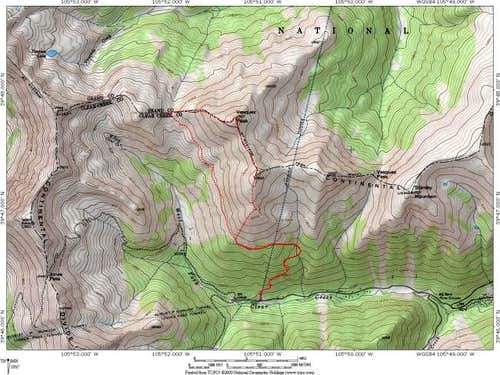 Vasquez Peak Topo Map: The...