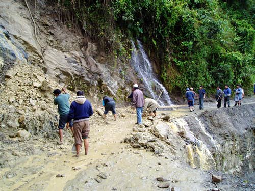 Another mudslide in the Yungas