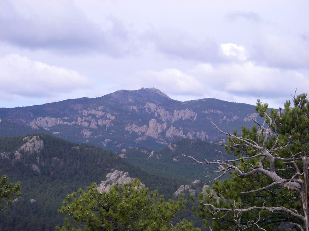 Harney Peak from Iron Mountain Road