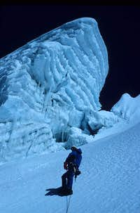 Approaching the summit region of Cholatse