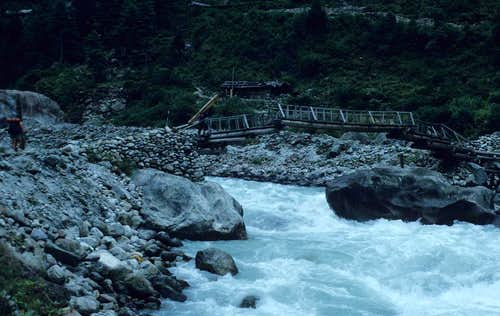 Bridge over the Dodh Kosi River