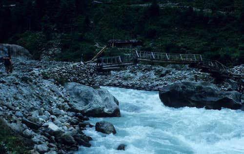 Bridge over the Dodh Kosi River