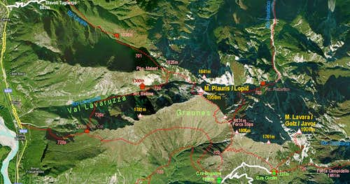 Monte Plauris map