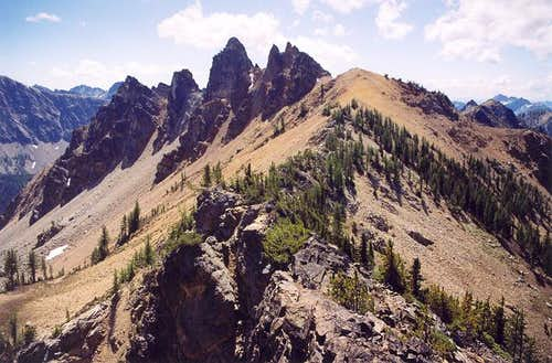 Outstanding crags (pinnacles)...