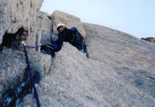 Dry Tooling the Cables