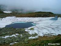 Melting lake in Valea Rea