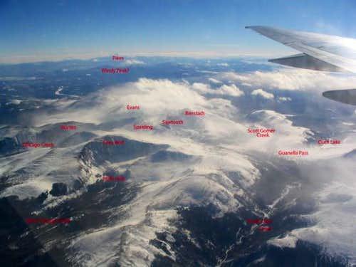 Aerial view of Mt. Bierstadt...