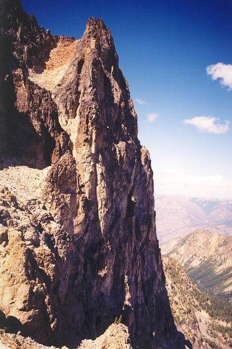 A view of the upper East Face...