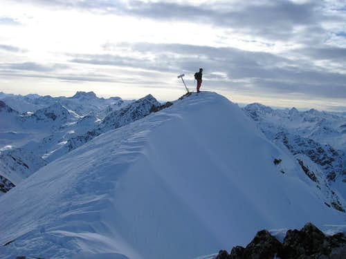 Summit of Flüela Wisshorn 3085m