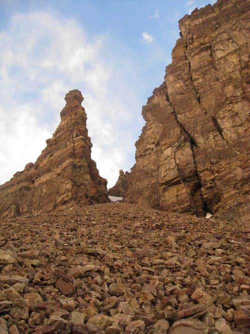 Rock Formations on Cathedral Peak