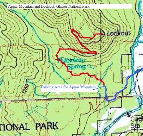 Map of Apgar Trail