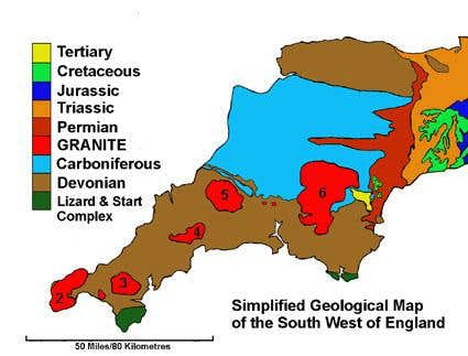 Geological map of the south west