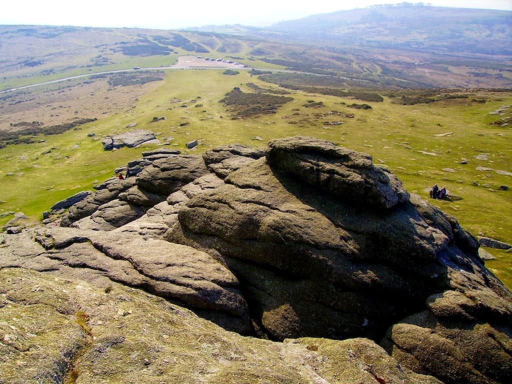 On top of Haytor Rock