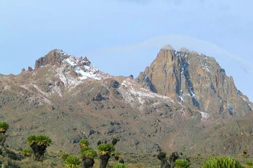 Mount Kenya as seen from the...