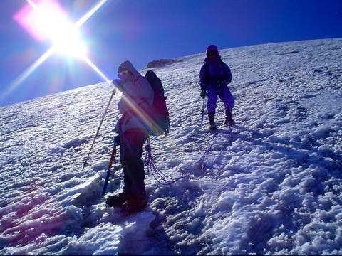 Climbers on the Jamapa...