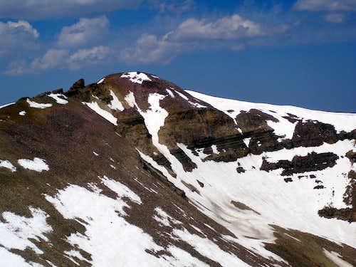 Gunsight Peak viewed from the SE