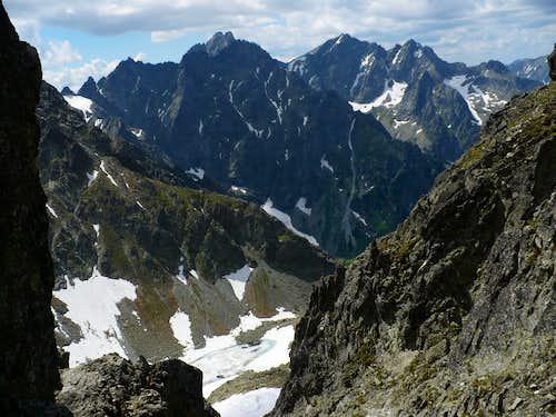 In the saddle Prielom (2288 m)