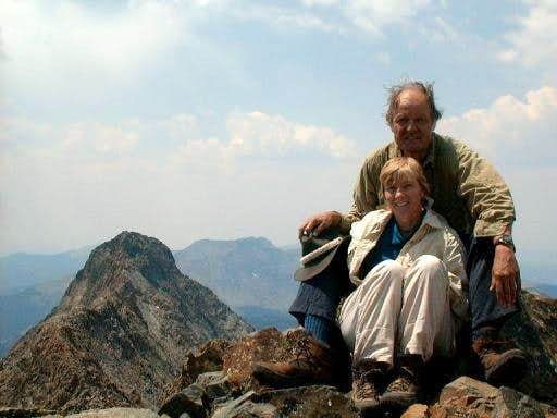 SP Member, 'The Plugger' on the summit with his wife.