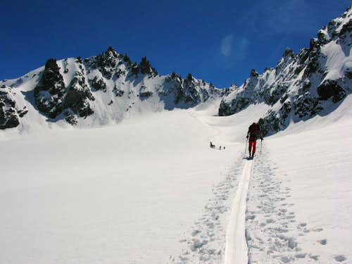 Ascent to Jamspitze