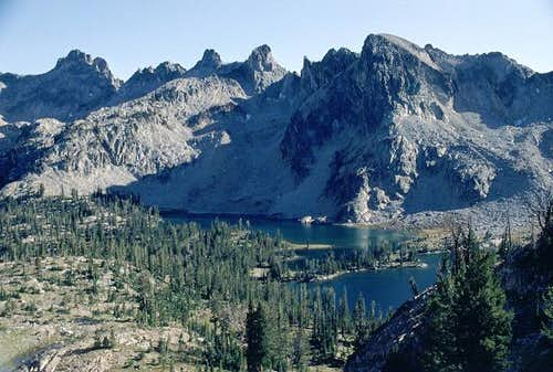 The Twin Lakes from the...