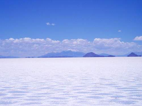 Ollague from Salar de Uyuni