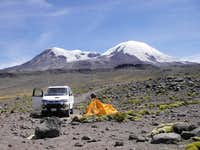 Lower Base Camp By Laguna Pallacocha