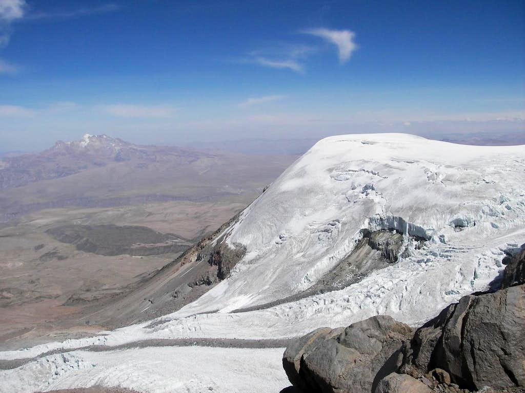 Nevado Solimana to the Left of Coropuna Glacier