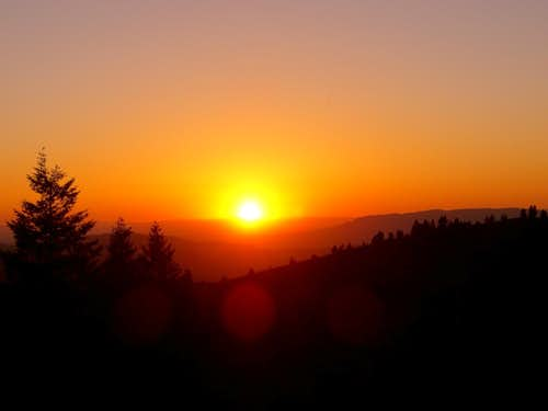 Sunset Near Mores Mountain