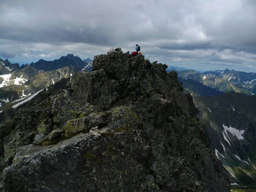 our group on the summit of Široká veža (2461 m)