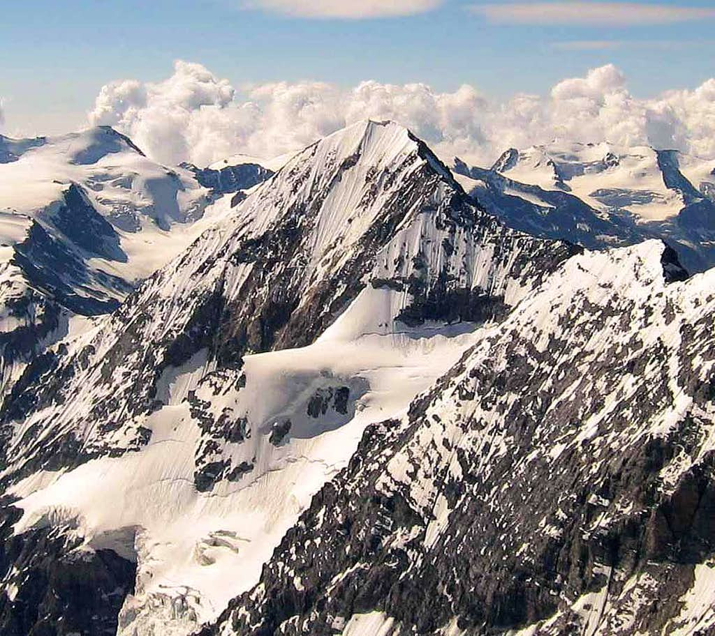 Gran Zebrù seen from the summit of Ortler.