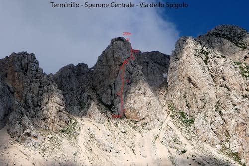Central spur: Edge route