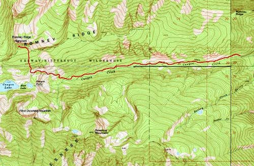 Topo of Romney Ridge Route