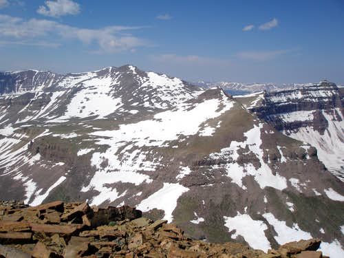 Kings Peak, W Gunsight Peak, and Henrys Fork Peak
