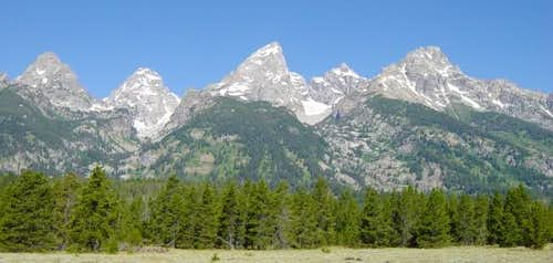Central Tetons with Nez...