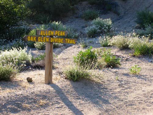 Trail Sign on Yucaipa Ridge