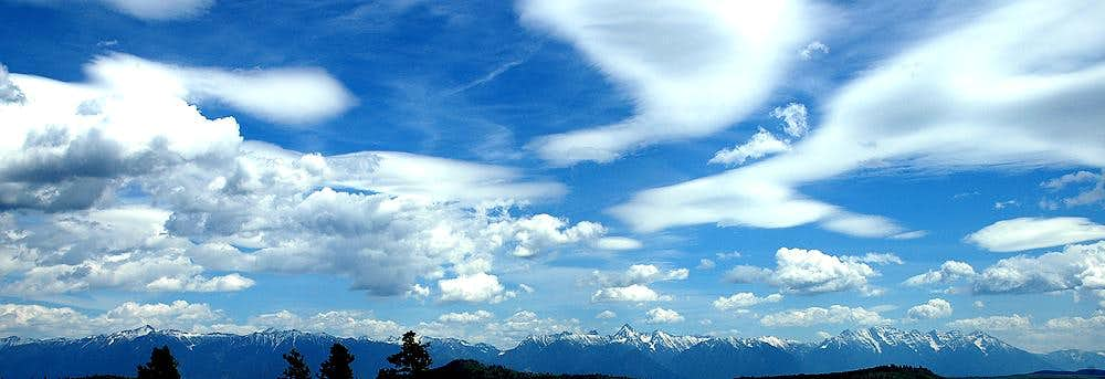 Lenticular and Cumulus Clouds over the Hughes Range