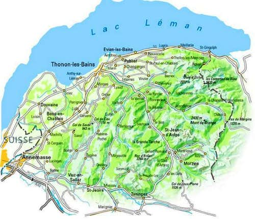 Map of the Chablais