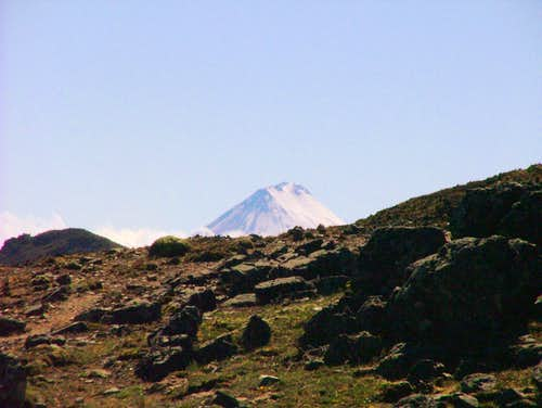 Sangay Volcano as seen from Quilloloma, Inca Trail, Ecuador.
