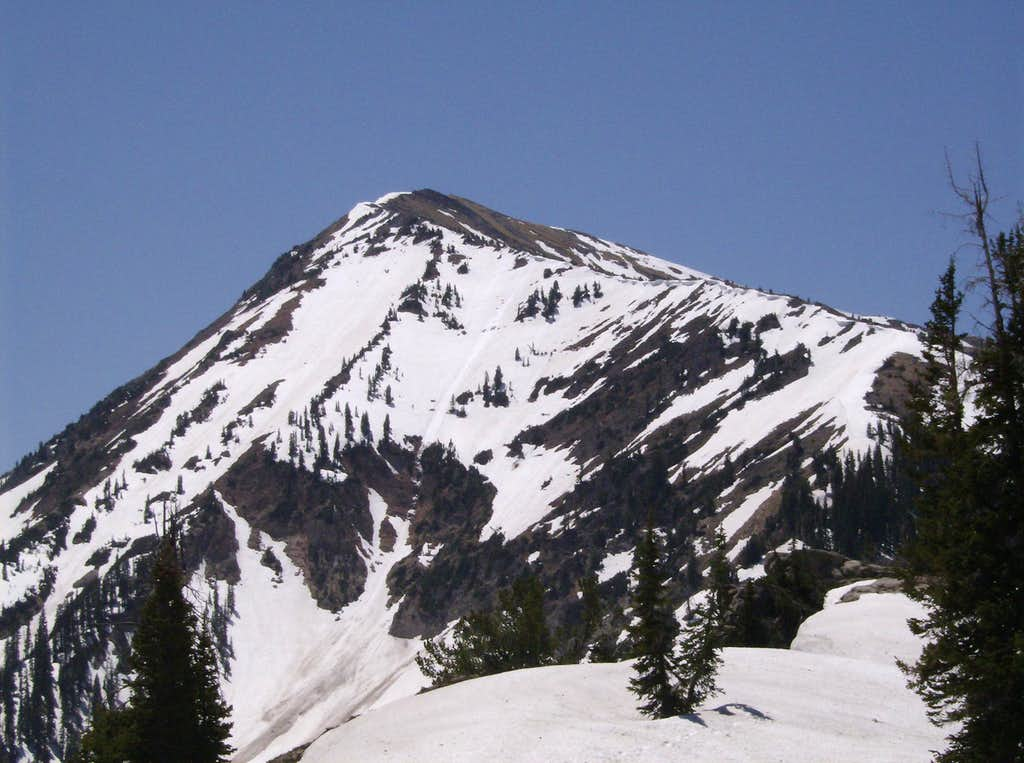 Looking up the north ridge