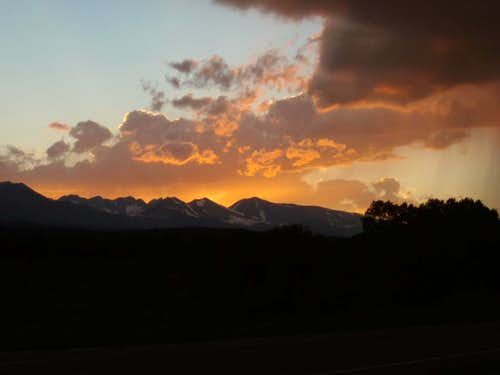 Sun setting over the Sangres......