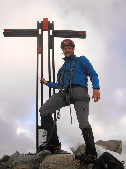 Summit of Bietschhorn 3934m
