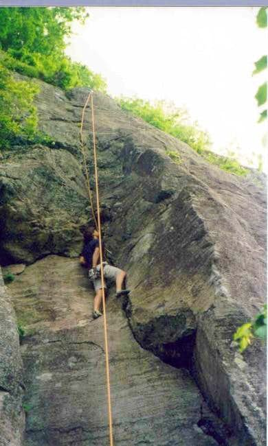 A local climber contemplating...