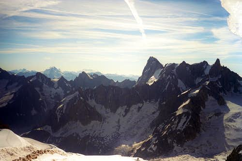 Grandes Jorasses and Rochefort Ridge